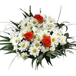 krizantemler beyaz ve güller  Ankara çiçek , çiçekçi , çiçekçilik