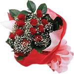 Ankara internetten çiçek satışı  KIRMIZI AMBALAJ BUKETINDE 12 ADET GÜL