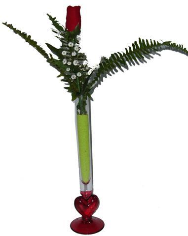 Ankara internetten çiçek satışı  Çok özel kalpli cam ve tek gül