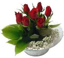 Ankara internetten çiçek satışı  cam yada mika içerisinde 5 adet kirmizi gül