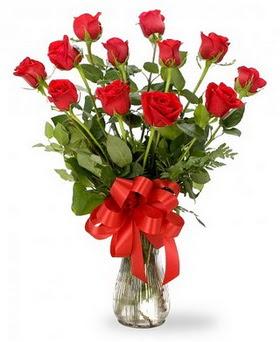 Ankara çiçek , çiçekçi , çiçekçilik  12 adet kırmızı güllerden vazo tanzimi