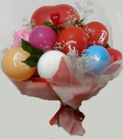 Benimle Evlenirmisin balon buketi  Ankara uluslararası çiçek gönderme