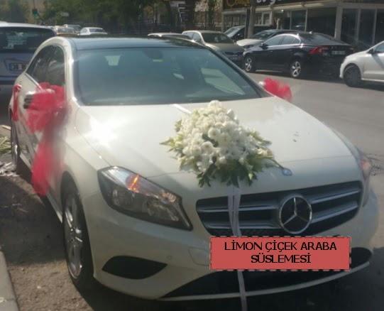 Araba süslemesi gelin arabası süsleme modeli  Ankara çiçek satışı