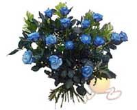 Ankara çiçek , çiçekçi , çiçekçilik  11 adet mavi gül özel tanzim