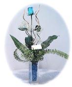 Ankara çiçek online çiçek siparişi  Kalite mika yada cam vazo mavi gül tanzim