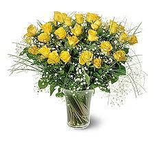 Ankara çiçek siparişi sitesi  15 adet sarigül mika yada cam vazoda