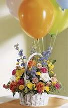 Ankara çiçek siparişi vermek  Mevsim çiçekleri sepeti balon hediye
