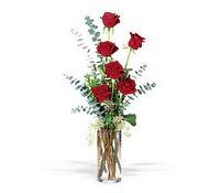 Ankara İnternetten çiçek siparişi  cam yada mika vazoda 6 adet kirmizigül