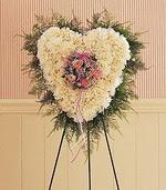 Ankara çiçek siparişi sitesi  kalp pano beyaz karanfillerden