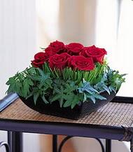 Ankara çiçek siparişi sitesi  10 adet kare mika yada cam vazoda gül tanzim