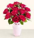 Ankara İnternetten çiçek siparişi  10 kirmizi gül cam yada mika vazo tanzim