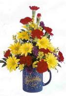 Ankara çiçekçiler  seramikte mevsim çiçekleri