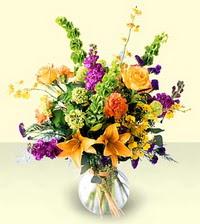 Ankara internetten çiçek siparişi  cam yada mika vazoda mevsim çiçekleri