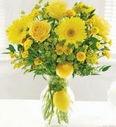 Ankara çiçek online çiçek siparişi  cam yada mika Vazoda sari gül ve çiçekler