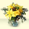 Ankara internetten çiçek siparişi  sari güller ve sari lilyum