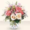 Ankara çiçekçiler  cam yada mika vazo içinde hepsi pembe