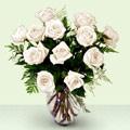 Ankara anneler günü çiçek yolla  beyaz güller cam yada mika vazo