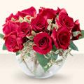 Ankara çiçek online çiçek siparişi  mika yada cam içerisinde 10 gül - sevenler için ideal seçim -
