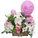 balon ve çiçeklerle tanzim  Ankara internetten çiçek satışı