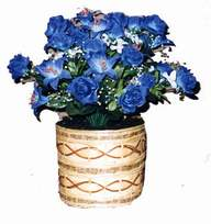 yapay mavi çiçek sepeti  Ankara cicekciler , cicek siparisi