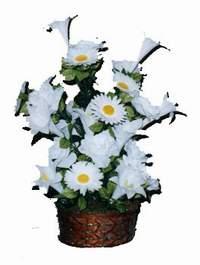yapay karisik çiçek sepeti  Ankara çiçek siparişi vermek