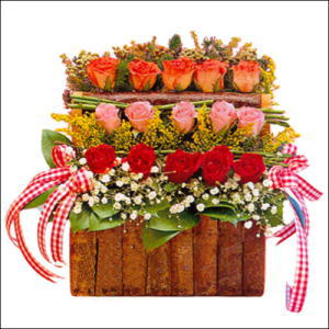 sandikta 3 kat güllerden   Ankara cicekciler , cicek siparisi