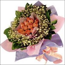 11  adet  gül ve   elyaflar   Ankara çiçekçi mağazası