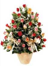 91 adet renkli gül aranjman   Ankara çiçek gönderme sitemiz güvenlidir