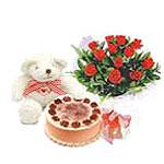 ayicik yaspasta ve gül   Ankara çiçek gönderme sitemiz güvenlidir