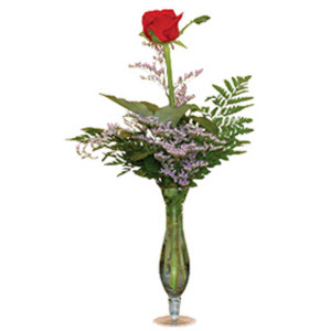 vazo içerisinde tek gül   Ankara çiçek gönderme sitemiz güvenlidir