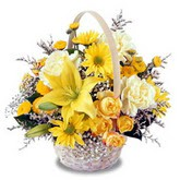 sadece sari çiçek sepeti   Ankara çiçek gönderme sitemiz güvenlidir