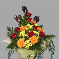 karisik güllerden buketlik   Ankara çiçek gönderme