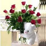 9 adet kirmizi gül    Ankara çiçek , çiçekçi , çiçekçilik