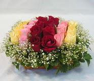 15 adet reprenkli gül sepeti   Ankara çiçek yolla