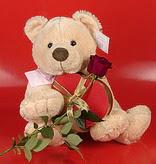 kalp oyuncak ve gül üçgeni   Ankara çiçek yolla