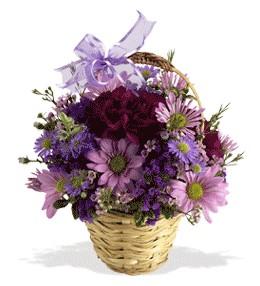 Ankara uluslararası çiçek gönderme  sepet içerisinde krizantem çiçekleri