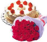 yaspasta ve 10 adet gül  Ankara internetten çiçek satışı