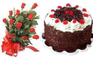 Ankara internetten çiçek satışı  12 ADET KIRMIZI GÜL BUKET VE YASPASTA