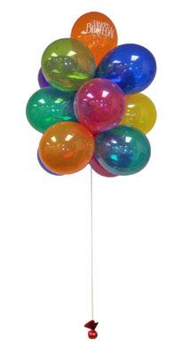 Ankara çiçek gönderme  Sevdiklerinize 17 adet uçan balon demeti yollayin.