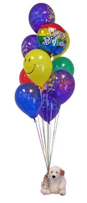 Ankara çiçekçi telefonları  Sevdiklerinize 17 adet uçan balon demeti yollayin.