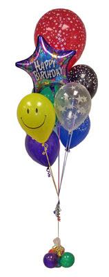 Ankara çiçek , çiçekçi , çiçekçilik  Sevdiklerinize 17 adet uçan balon demeti yollayin.