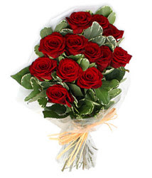 Ankara çiçek yolla , çiçek gönder , çiçekçi   9 lu kirmizi gül buketi.