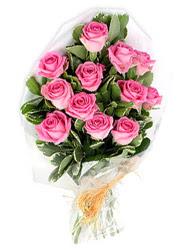 Ankara yurtiçi ve yurtdışı çiçek siparişi  12 li pembe gül buketi.