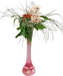 Ankara kaliteli taze ve ucuz çiçekler  Filayagi cam vazo içerisinde orkide ve güllerle ha