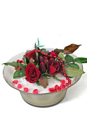 Ankara çiçek siparişi vermek  EN ÇOK Sevenlere 7 adet kirmizi gül mika yada cam tanzim