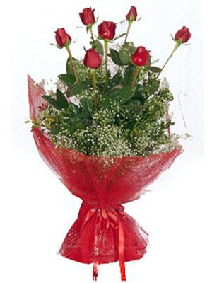 Ankara çiçek servisi , çiçekçi adresleri  7 adet gülden buket görsel sik sadelik