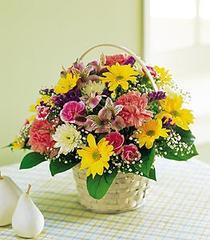 Ankara çiçekçiler  Karisik mevsim sepeti sevenlere
