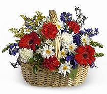Ankara çiçek servisi , çiçekçi adresleri  Karisik mevsim çiçek sepeti