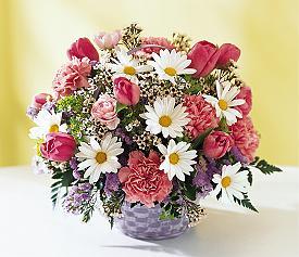 Ankara online çiçek gönderme sipariş  Karisik mevsim çiçek sepeti