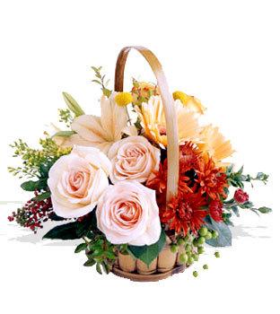 Ankara uluslararası çiçek gönderme  Orta boy Karisik mevsim çiçeklerinden sepet